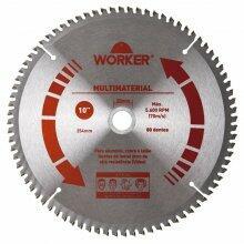Disco de Serra Multimaterial 10'' 80 Dentes 30mm Worker