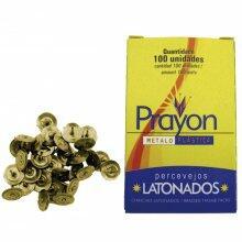 Tacha Ferro Latonado 9x16 Prayon 100 Pçs