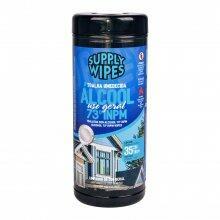 Toalha Umedecida Álcool Supply Wipes