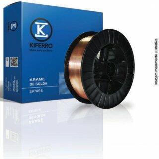 Arame MIG 0,8Mm 15Kg C/Carretel Plástico Capa x Capa ER70S-6 Kiferro