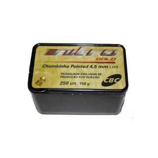 Chumbinho 4,5mm Nitro Gold Pointed CBC - 250 Peças