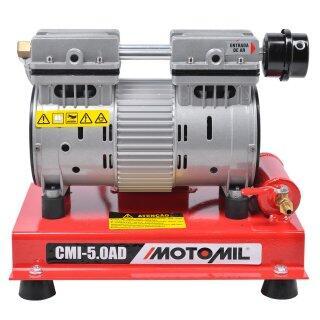 Compressor Ar Direto Sem Óleo 5PCM CMI-5,0 AD Motomil - 220V