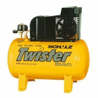 Compressor De Ar 10 Pés 100 Litros Schulz Twister - 220V Monofásica