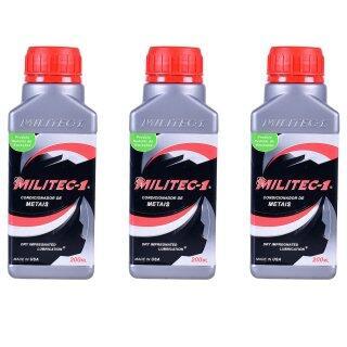 Conjunto com 3 Óleos Lubrificantes para Metais Militec-1