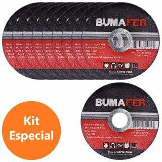"""Discos de Corte Fino com 10 Peças 4. 1/2"""" × 1 MM Bumafer"""
