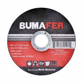 """Discos de Corte Multi Material com  10 Peças 4. 1/2"""" × 1 mm Bumafer"""
