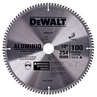 "Disco de Serra Esquadria 10""(254mm) p/ alumínio DWA03220 Dewalt"