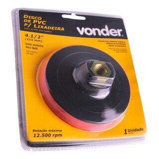 """Disco Para Lixadeira De Pvc 4.1/2"""" Com Velcro Vonder"""