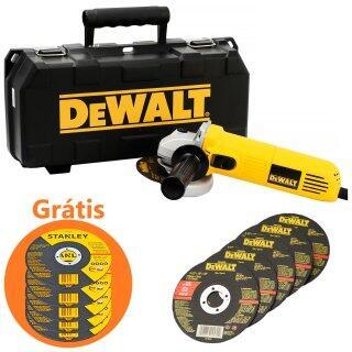 Esmerilhadeira Angular 700W Dwe4010KBr Dewalt com 5 Discos 127V