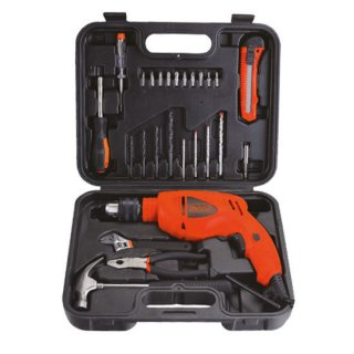 "Furadeira De Impacto 1/2"" 500W + Kit HD500KS Black&Decker - 220V"