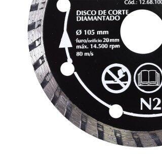 Kit Serra Mármore Corte Reto Vonder e 2 Disco Corte 220V