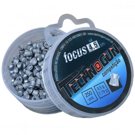 Chumbinho de Competição Focus 4,5 MM com 250 Peças Technogun