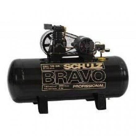 Compressor de Ar 10 Pés 200 Litros Schulz Bravo - 220/380V Trifásica