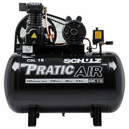 Compressor de Ar 15 Pés 130L Pratic Air Csl Schulz-127/220V