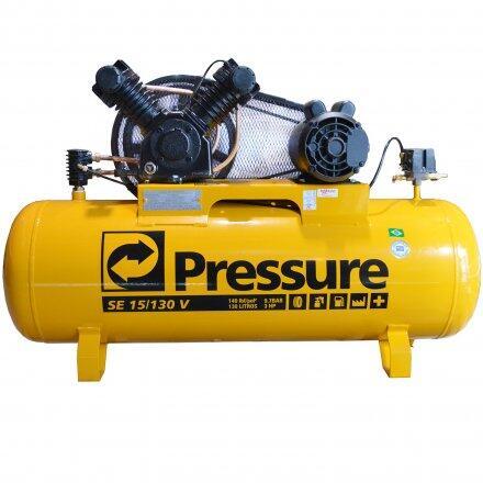 Compressor de Ar 15 Pés 130L Pressure Se15/130V - 110/220 Volts