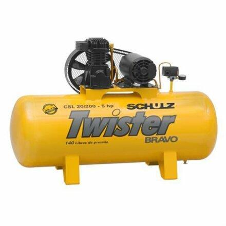 Compressor de Ar 20 Pés 200 Litros Schulz Twister - 220/380V Trifásica