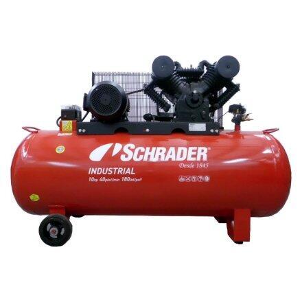 Compressor de Ar 40 Pés 350 Litros Schrader Industrial - 220/380V Trifásica