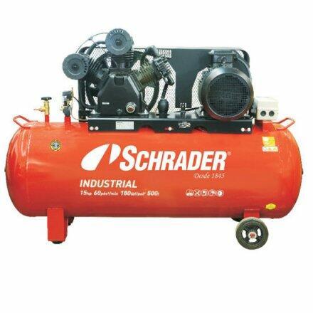 Compressor de Ar 60 Pés 500 Litros Schrader Industrial - 220/380V Trifásica