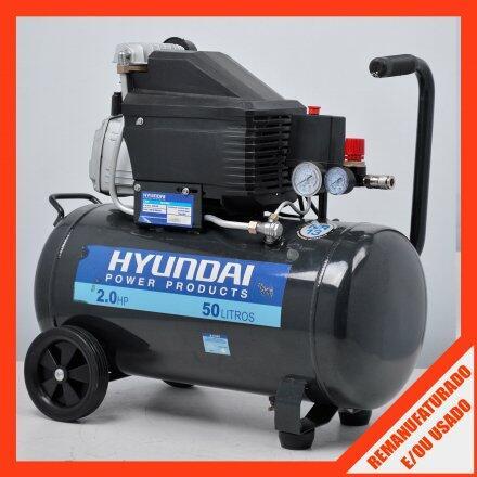 Compressor de Ar 7 Pés 50 Litros 2Cv Hyac50D Hyundai - 127V #