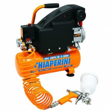 Motocompressor de Ar MC 5Bv/8-1. 5Hp Chiaperini - Bivolt