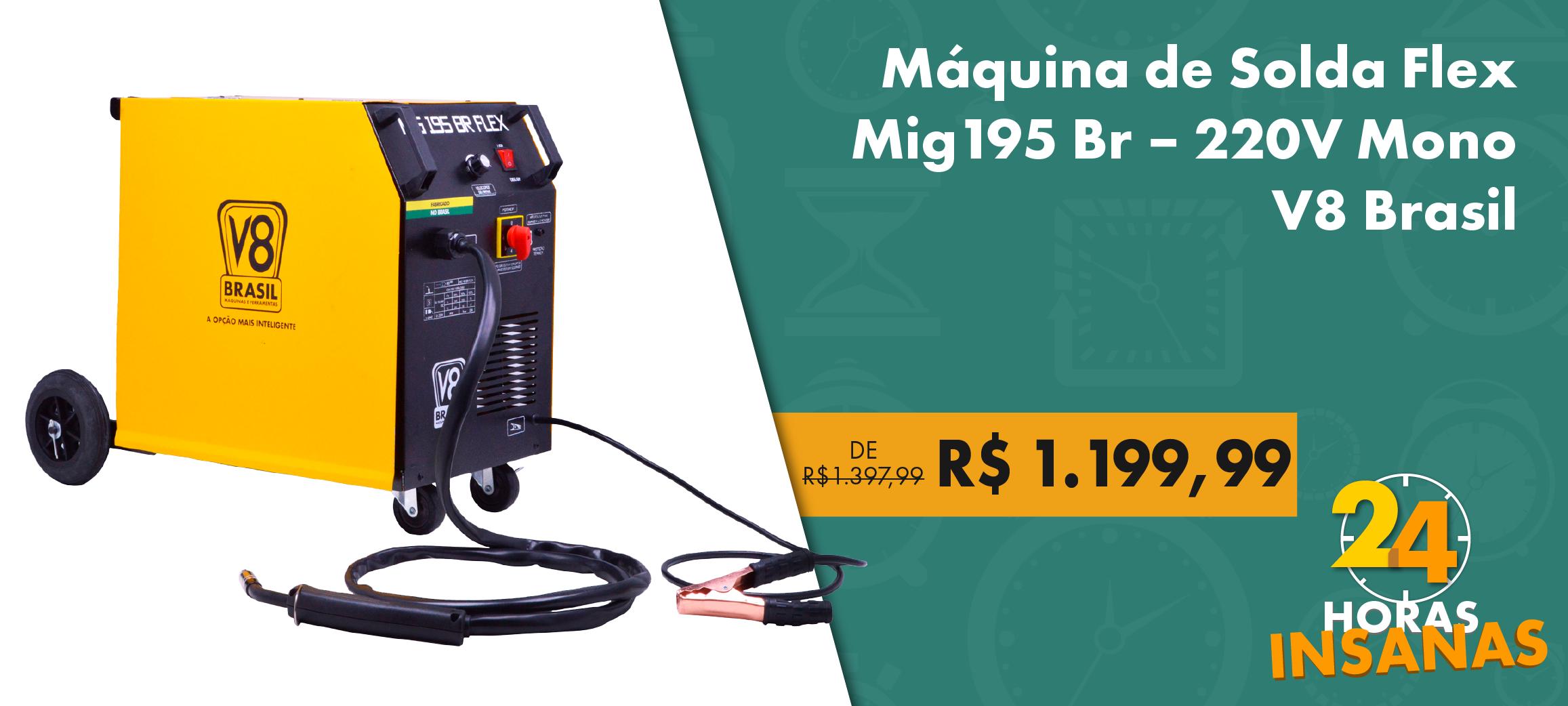 Máquina de Solda Flex Mig195 Br V8 Brasil – 220 V Mono