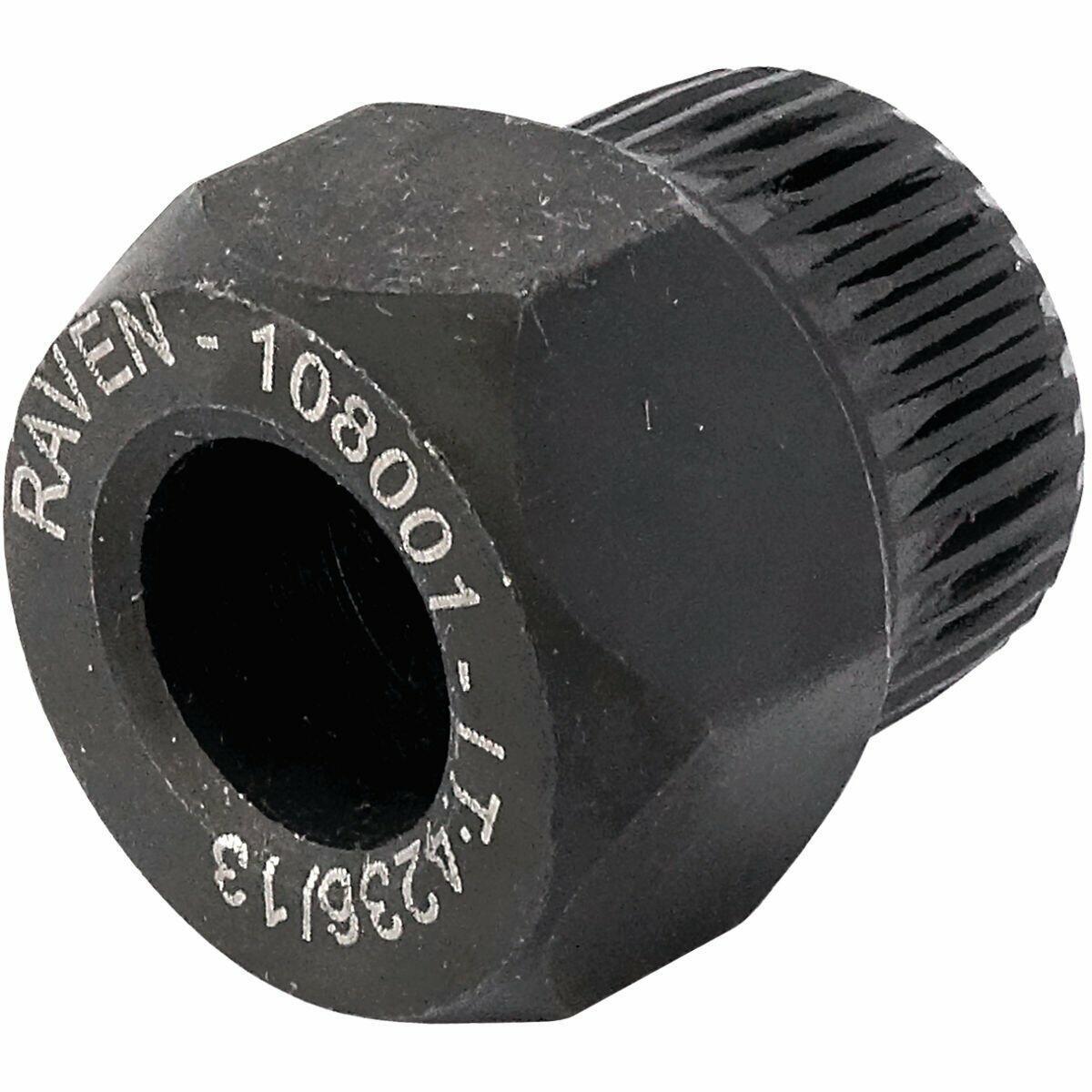108001 Raven - Soquete Especial Estriado Com 33 Dentes e Sextavado De 22 mm Para Polia