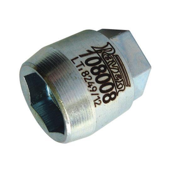108008 Raven - Soquete Sextavado 24mm Para Porca da Polia de Alternadores Bosch