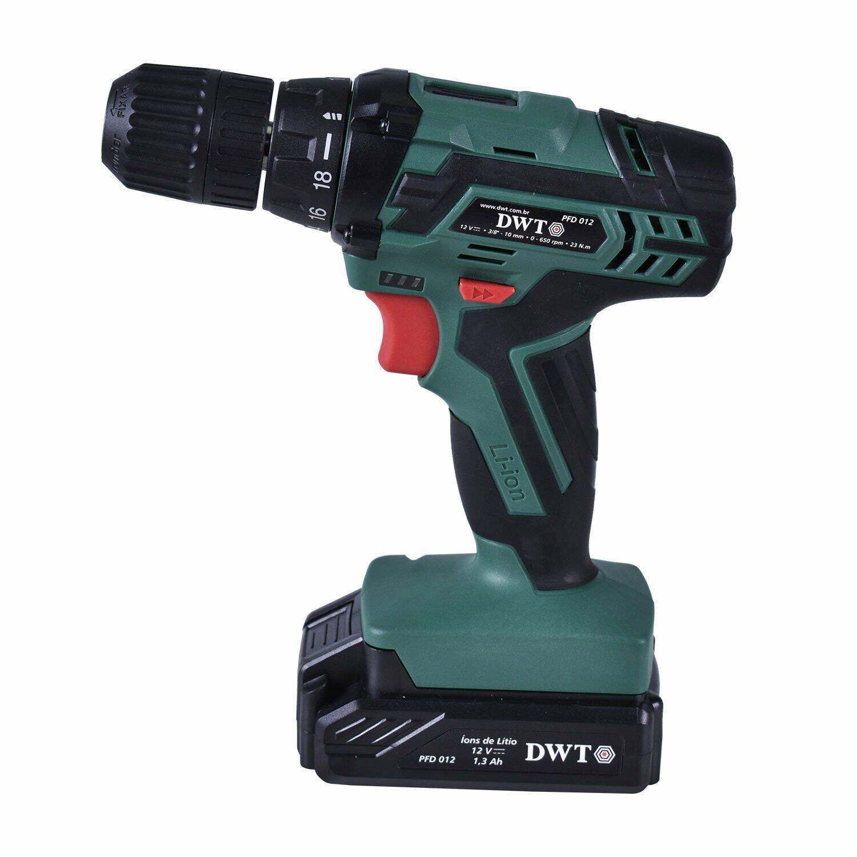 Furadeira Parafusadeira A Bateria Com Kit PFD012 DWT Bivolt