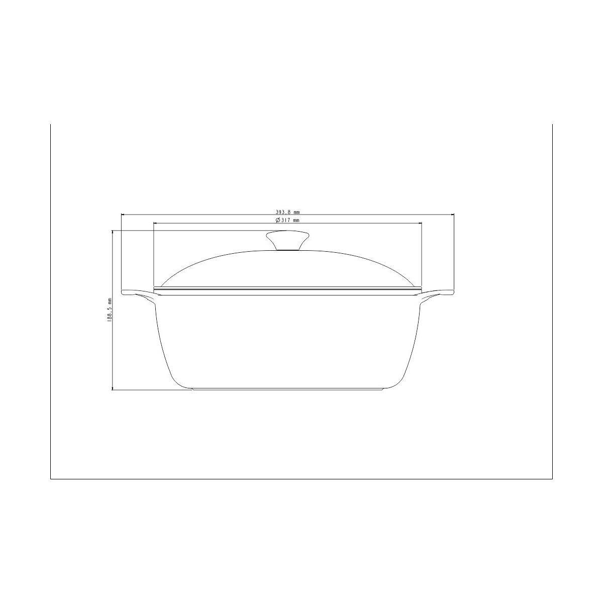 Caçarola Tramontina Preta em Alumínio Forjado com Revestimento Interno Antiaderente Starflon T5 Com Tampa 30 cm 7 L Tramontina 20960030