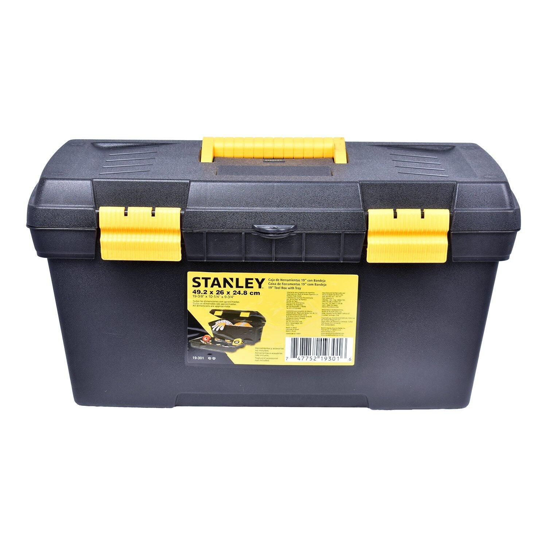 "Caixa Plástica Para Ferramentas 19"" 19-301 Stanley - Trava Plástica"