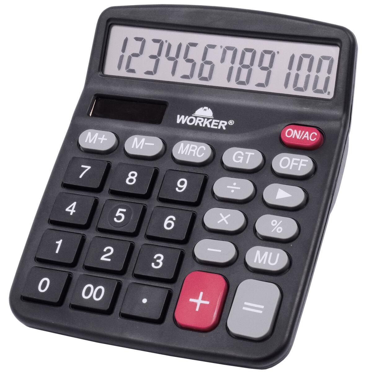 Calculadora de Mesa Eletrônica e Solar 12 Dígitos Worker