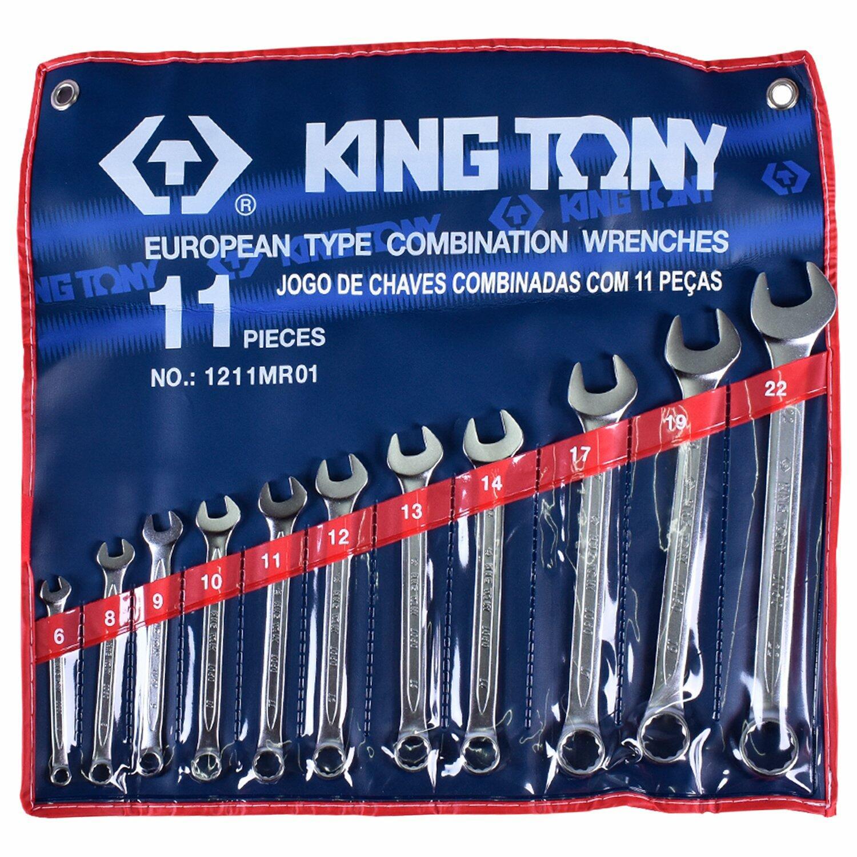 CHAVE COMBINADA JOGO 6 A 22 MM 11 PEÇAS KING TONY 1211MR01