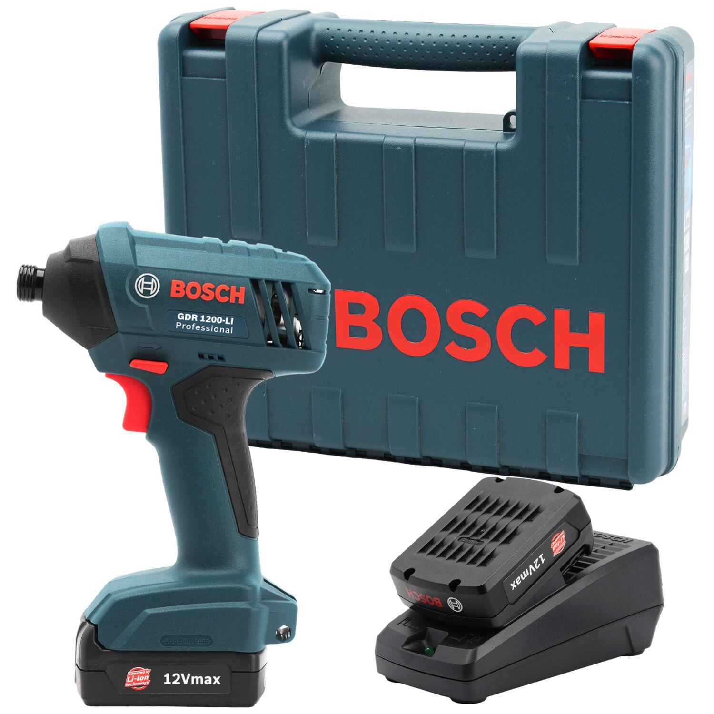 """Chave De Impacto 1/4"""" 2 Baterias 12V GDR1200-LI Bosch - 220V"""