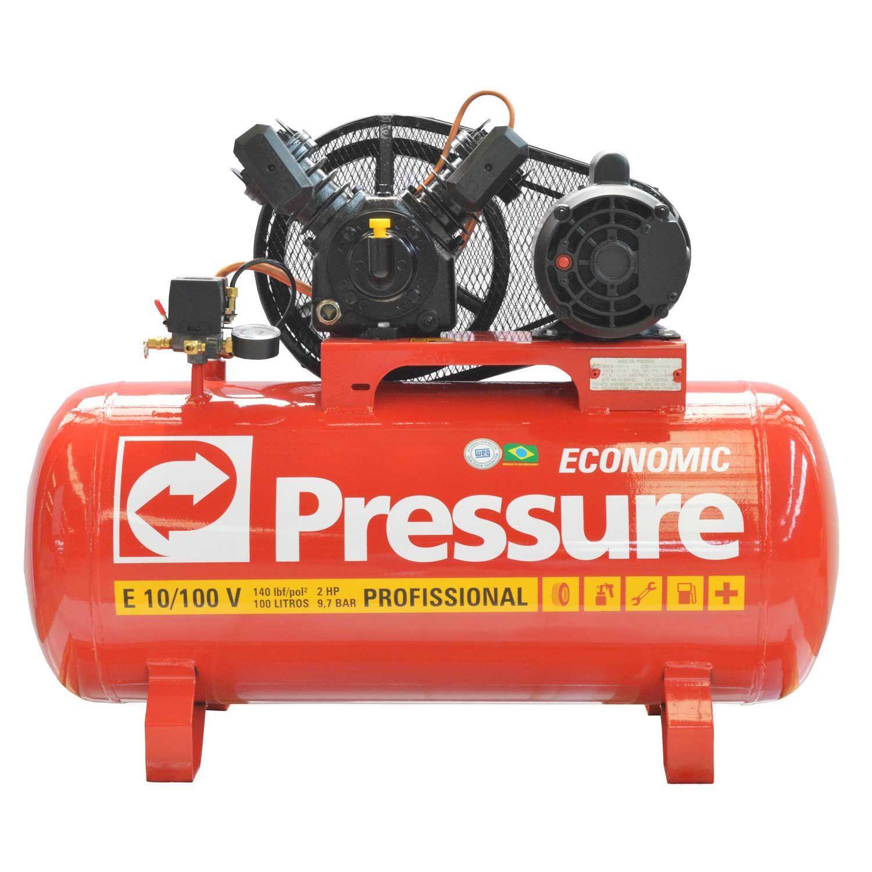 Compressor De Ar 10 Pés 100 Litros Economic Pressure - 110/220V Monofásica