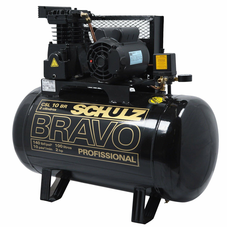 Compressor De Ar 10 Pés 100L Bravo Schulz - 127/220V Monofásica