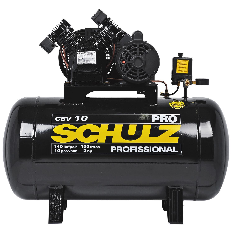 Compressor de Ar 10 Pés 100L PRO CSV Schulz - 110/220V