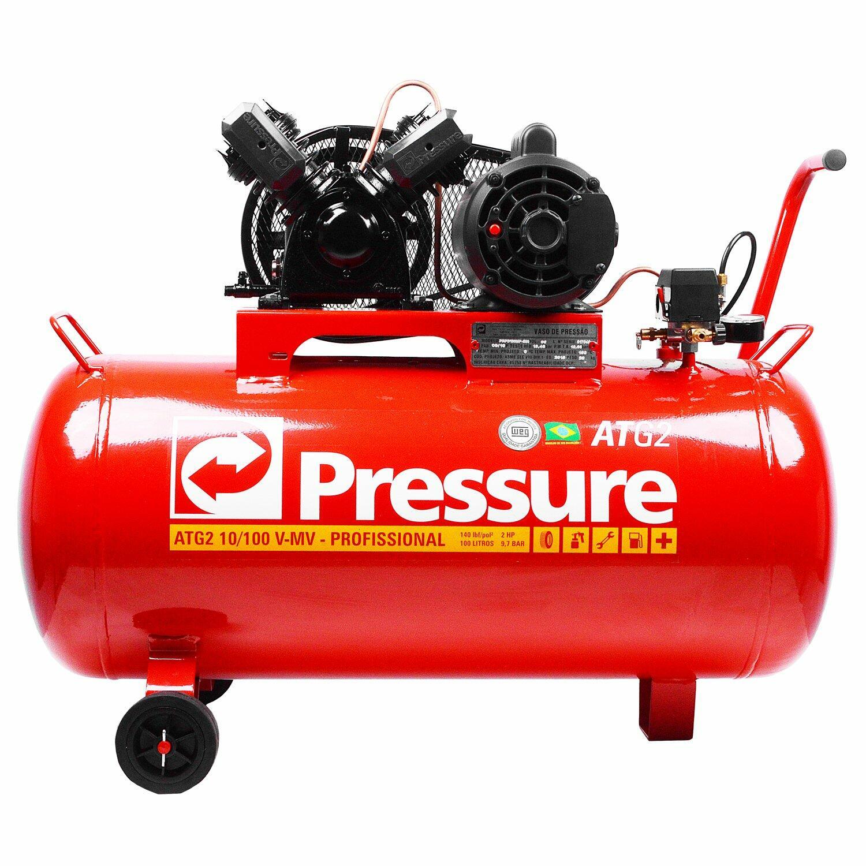 Compressor De Ar 10Pcm 100L ATG2-10/100VMV Pressure-110/220V