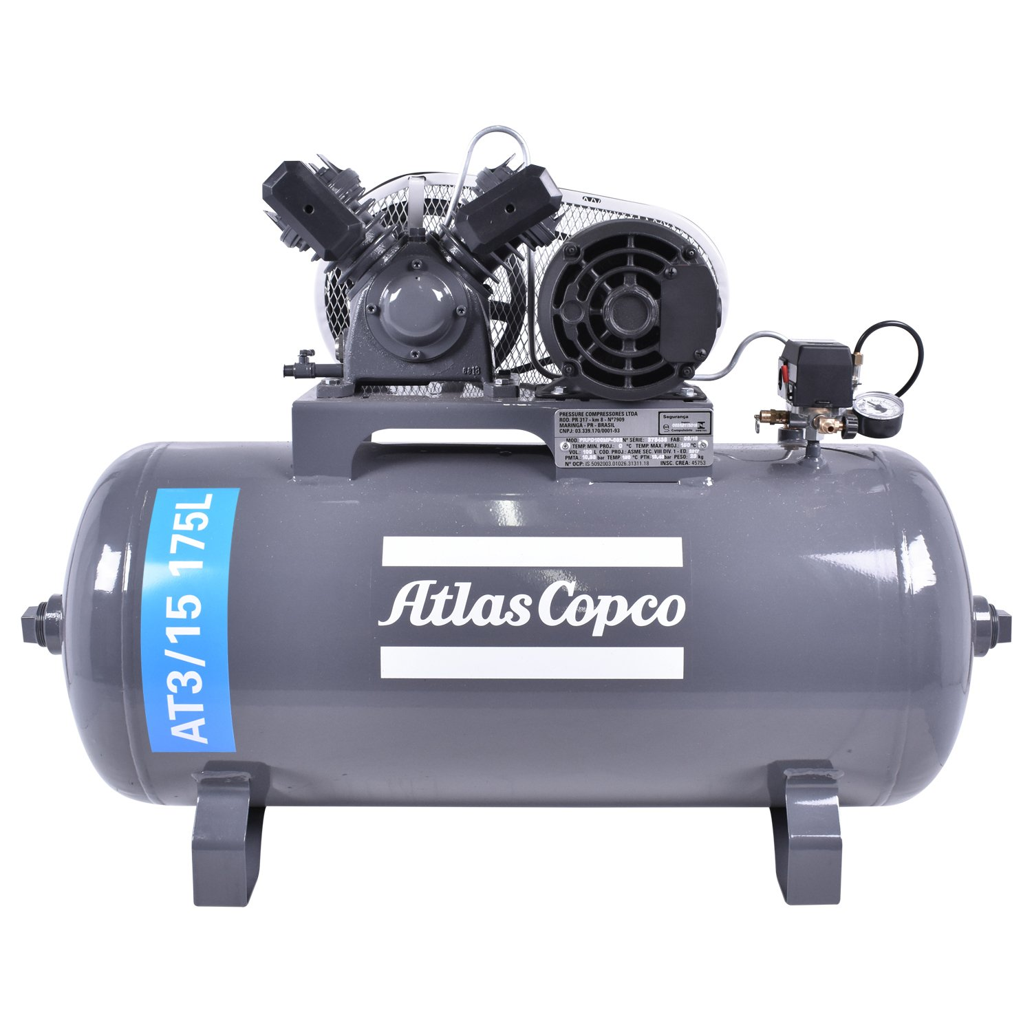 Compressor de Ar 15 PCM 175 L AT3/15 Atlas Copco
