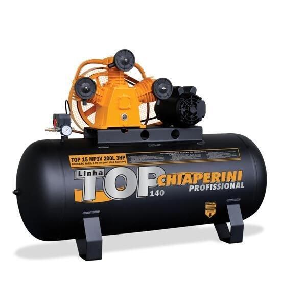 Compressor De Ar 15 Pés 200 Litros Chiaperini - 110/220 Volts