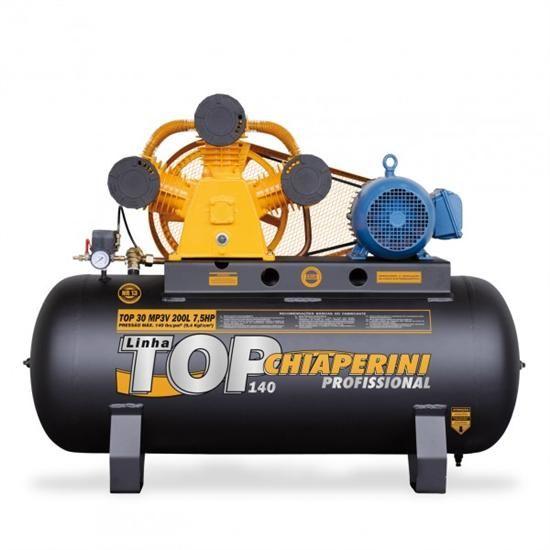 Compressor De Ar 30 Pés 200 Litros Chiaperini Top 30MP3V - 220/380V Trifásica