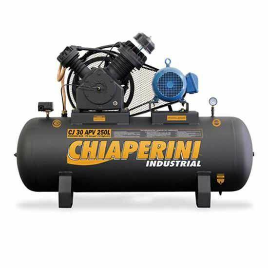 Compressor De Ar 30 Pés 250 Litros Chiaperini CJ30APV250L - 220/380V Trifásica