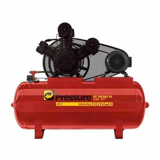 Compressor De Ar 40 Pés 360 Litros 175 Libras 220/380 Volts Trifásico Atg240360vta Pressure