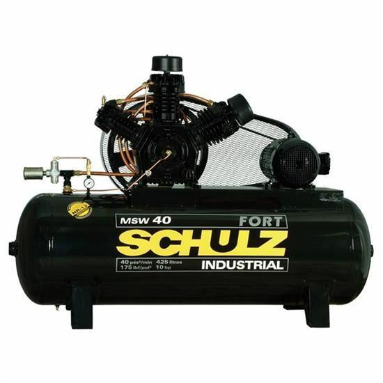 Compressor De Ar 40 Pés 425 Litros Schulz Fort MSW - 220/380V Trifásica