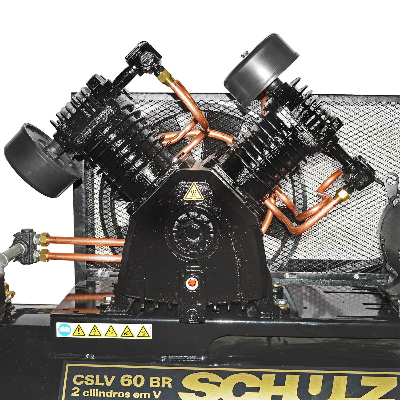 Compressor de Ar 60 Pés 350L BRAVO CSLV Schulz - 220/380V