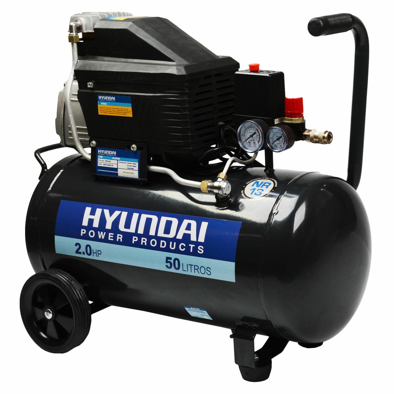 Compressor de Ar 7 Pés 50 Litros 2Cv HYAC50D Hyundai - 127V