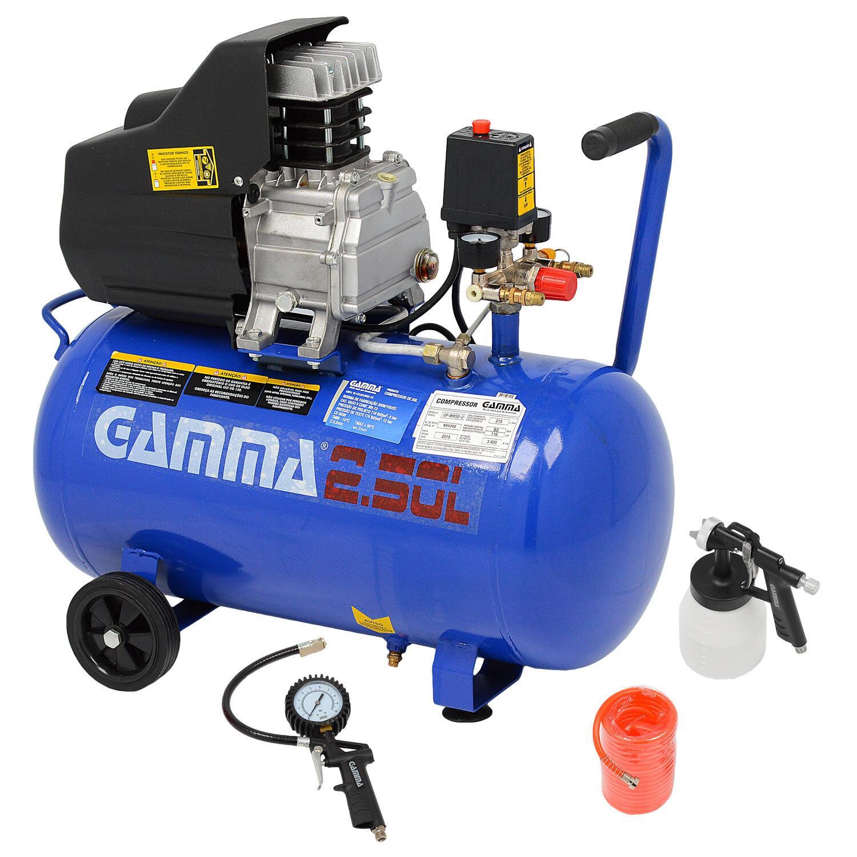 Compressor De Ar 7,5 Pés 50 Litros G2802KBR2 Gamma + Kit - 220V