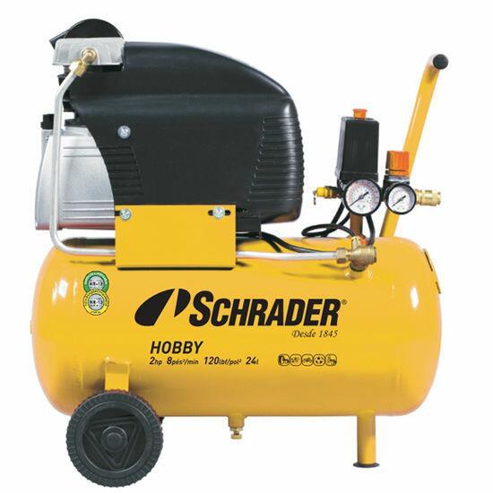 Compressor De Ar 8 Pés 24 Litros Schrader Hobby - 220 Volts