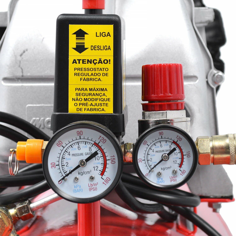Compressor de Ar 8,8 Pés 50L + Kit de Acessórios Motomil