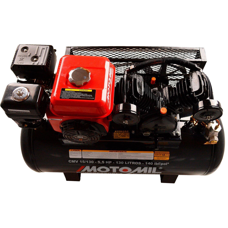 Compressor de Ar a Gasolina 15 PCM 5,5HP CMV-15/130G Motomil