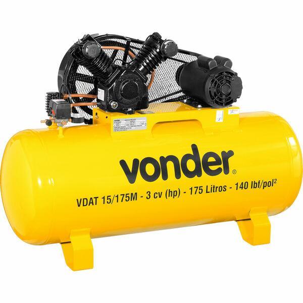 Compressor de ar VDAT 15/175M, monofásico, 127 V~/220 V~, VO